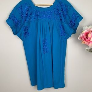 Tops - 100% Cotton Mexican Embroidered Top